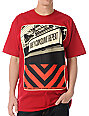 Obey Subway Sign Red T-Shirt