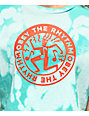 Obey The Rhythm camiseta corta azul blanqueada