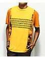 Obey Tribal People camiseta dorada con efecto tie dye