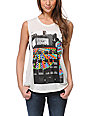 Obey Woodside Boston Mock Twist Natural Muscle Tank Top