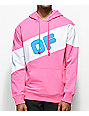 Odd Future Sport Pink & White Colorblock Hoodie
