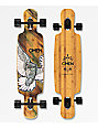 "Omen Fly By The Night 38"" Bamboo Longboard Complete"