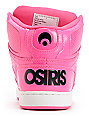 Osiris Kids NYC 83 Pink, Pink & Black Skate Shoes