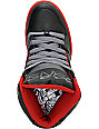 Osiris NYC 83 Black & Red Faisst High Top Shoes