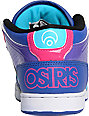 Osiris NYC 83 Mid Blue, Pink & Black Shoes