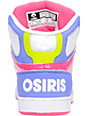 Osiris NYC 83 Slim Blue, Lime, & Pink Shoes