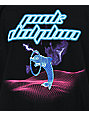 Pink Dolphin Leap Grid Black T-Shirt