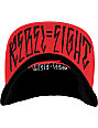 REBEL8 Classic Logo Black & Red Snapback Hat