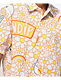 RIPNDIP Daisy Daze Pink & White Short Sleeve Button Up Shirt