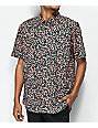 RVCA Barrow Printed Terracotta Short Sleeve Button Up Shirt