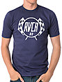 RVCA Checkers Navy T-Shirt