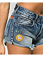 RVCA Hi Way Pelletier Patched Denim Shorts