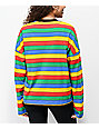 Ragged Jeans Rainbow Striped Long Sleeve T-Shirt