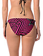 Rockstar x Fox Spike Vortex Black & Pink Tie Side Bikini Bottom