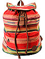 Roxy Driftwood Red Stripe Casual Backpack