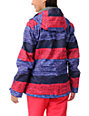 Roxy Jetty Moody Blue Stripe 8K Insulated Snowboard Jacket
