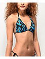 Santa Cruz Screaming Hand Black Triangle Bikini Top
