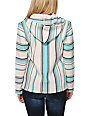 Senor Lopez New Retro White, Graphite & Mint Poncho