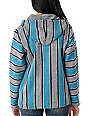 Senor Lopez Silver, Turquoise & Navy Spring Poncho