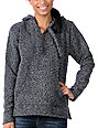 Senor Lopez Tweed Black, Grey, & White Poncho