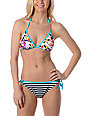 Shi Striped Tie-Side Bikini Bottom