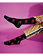 Stance X Chinatown Market Rosey Black & Red Crew Socks