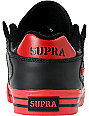 Supra Vaider Low Black & Red Action Leather Skate Shoes