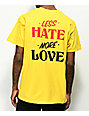 Swallows & Daggers Less Hate Yellow T-Shirt