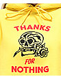 Swallows & Daggers Thanks For Nothing Yellow Crop Hoodie