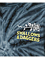 Swallows & Daggers Rose Hand camiseta en color carbón con efecto tie dye