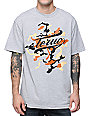 Teruo Hidden Script Heather Grey & Camo T-Shirt
