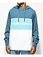 The Hundreds Deck sudadera con capucha estilo colorblock en azul y blanco