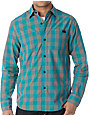 The Hundreds Lassen Turquoise Button Up Shirt