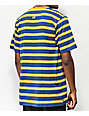 The Hundreds Segundo Navy & Gold Striped T-Shirt