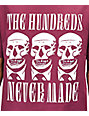 The Hundreds x Never Made Skull Burgundy T-Shirt