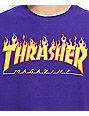 Thrasher Flame Logo Purple T-Shirt