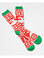 Toy Machine Ugly Sweater Red, White & Green Crew Socks