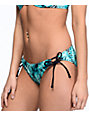 Trillium Bermuda Jungle Black & Teal Hipster Bikini Bottom