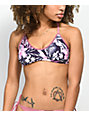 Trillium Tropical Pink & Purple Bralette Bikini Top