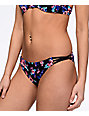 Trillium Tropical Side Strap Black Cheeky Bikini Bottom