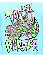 Trippy Burger Jelly Shoe Light Blue T-Shirt