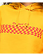 Valley High Checked Out Gold Crop Hoodie