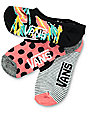 Vans 3 Pack Happy Dance Canoodle calcetines invisibles