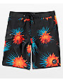 Vans Mixed Scallop board shorts en negro y floral