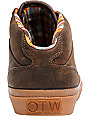 Vans OTW Bedford Brown Leather & Gum Skate Shoes