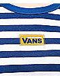Vans Skimmer Blue & White Stripe Crop T-Shirt