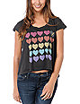 Vans x Junk Food Hearts Black T-Shirt