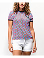 Vans x T&C Surf Designs Pink Checkerboard Ringer T-Shirt