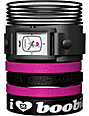 Vestal x Keep A Breast Foundation Electra Jelly Black & Pink Watch