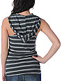 Volcom Coney Island Grey Stripe Hooded Tank Top